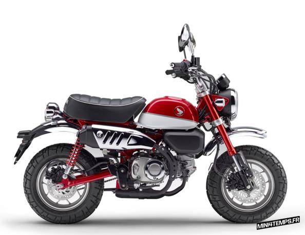 Honda Monkey 125 rouge modèle 2018 - mini4temps.fr