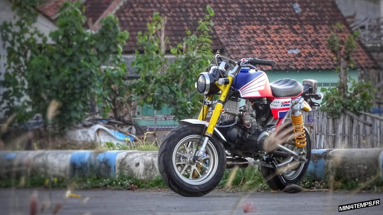 Honda Monkey HRC by Sandy Wei - mini4temps.fr
