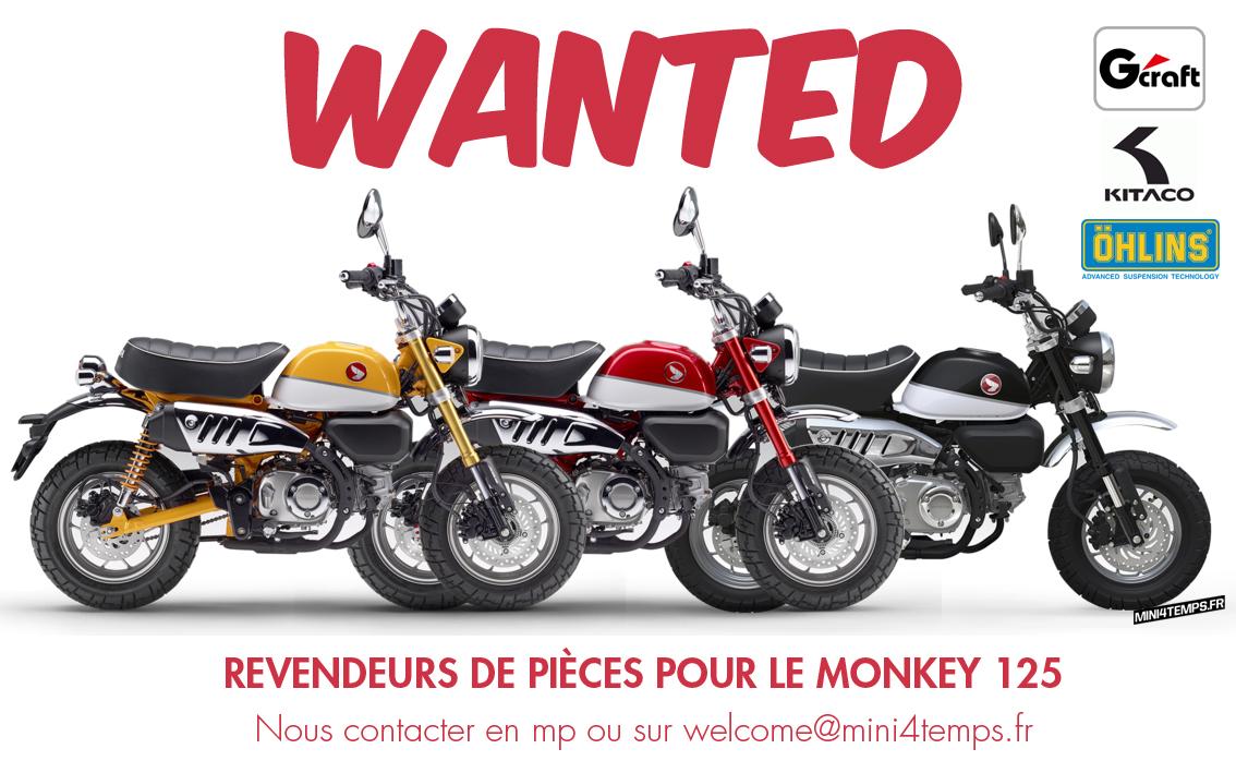 Vendeurs de pièces pour le Honda Monkey 125 2018 - mini4temps.fr