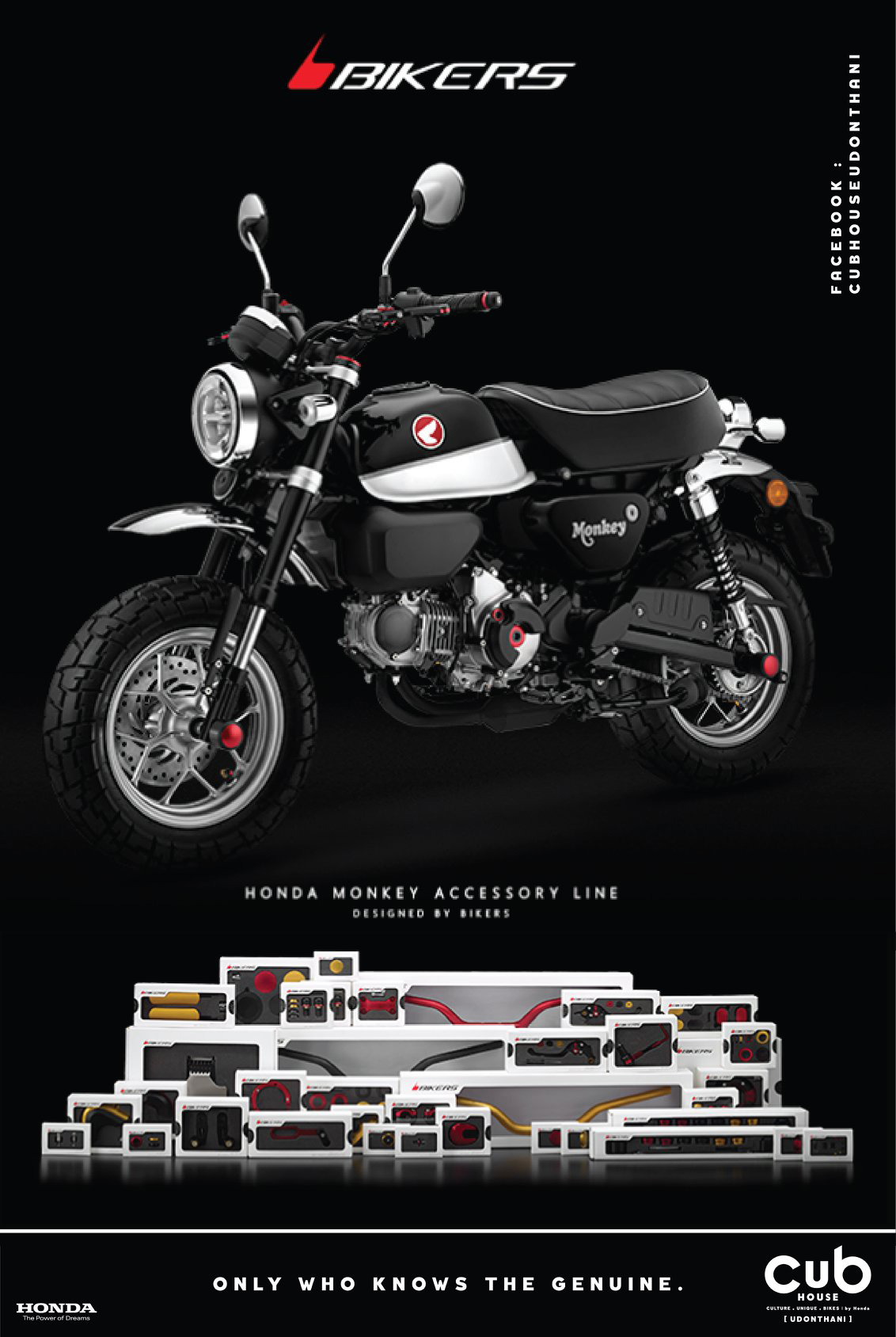 Guidons BIKERS pour Honda Monkey 125 - mini4temps.fr