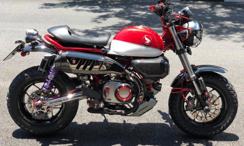 le honda monkey 125 rouge de phajon le site des passionn s de mini4temps honda. Black Bedroom Furniture Sets. Home Design Ideas