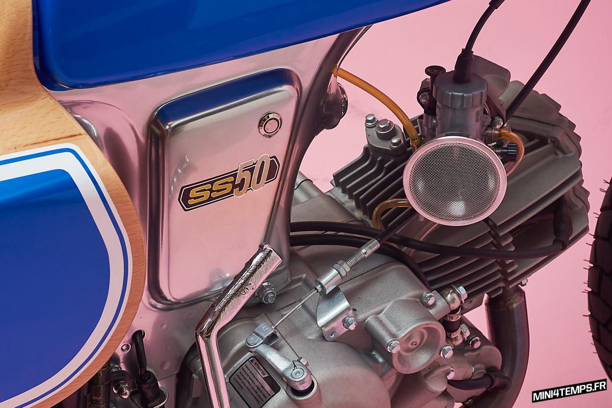 Le Honda SS50 Wild Horse de George Woodman - mini4temps.fr
