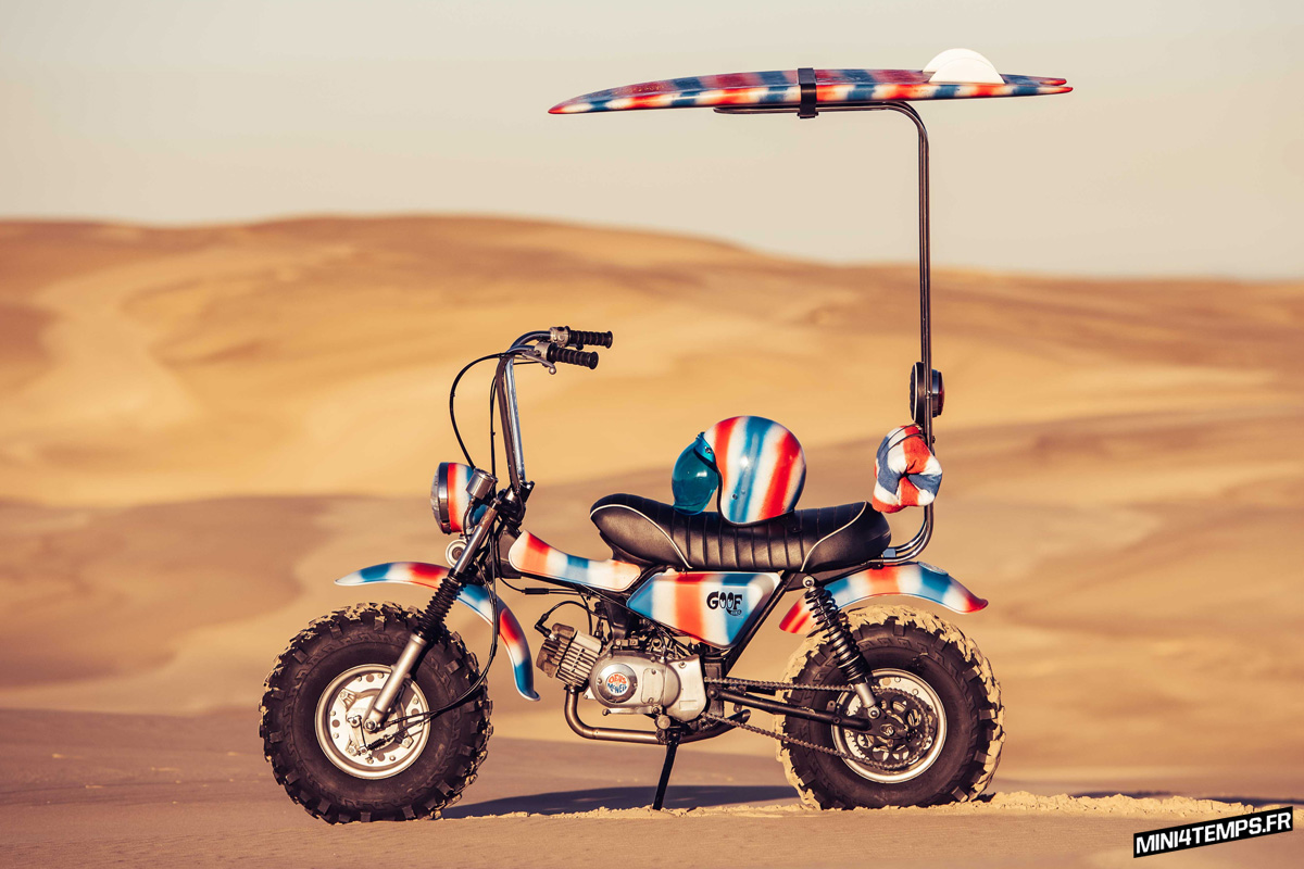 "Le Suzuki RV 90 ""Goof Bike"" de Paul Mcneil - mini4temps.fr"