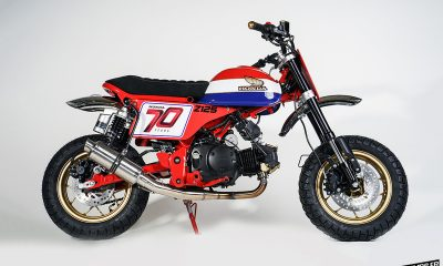 Le Honda Monkey 125 Flat Track de Kingston Custom - mini4temps.fr