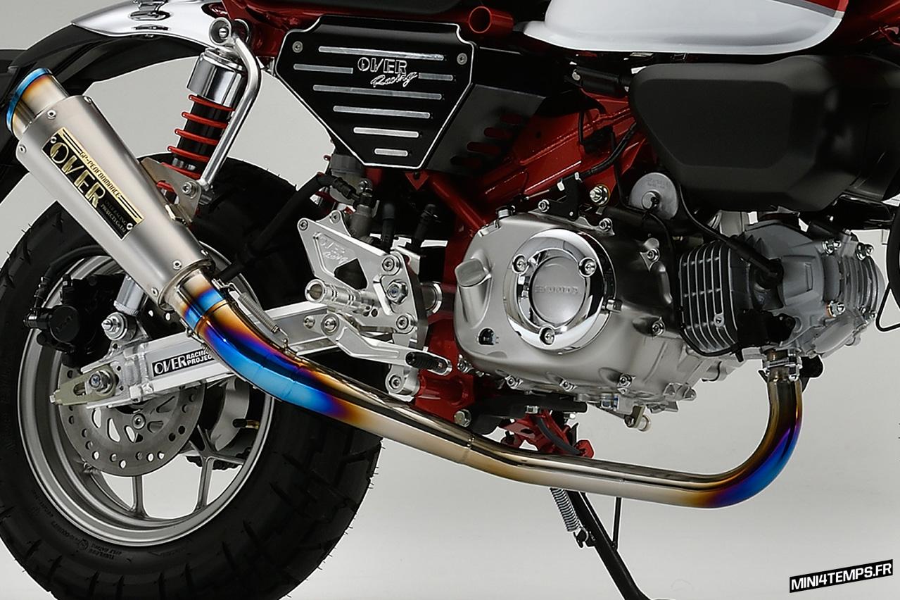 Echappement OVER Racing GP Performance RS pour Honda Monkey 125 - mini4temps.fr