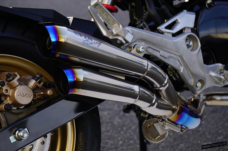 Un nouveau mégaphone double Over Racing pour le Honda MSX 125 ! - mini4temps.fr