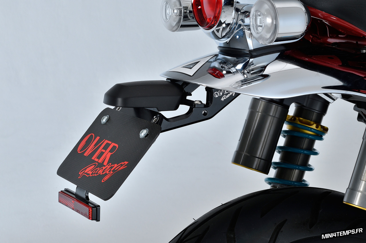 Support de plaque OVER Racing pour Honda Monkey 125 - mini4temps.fr