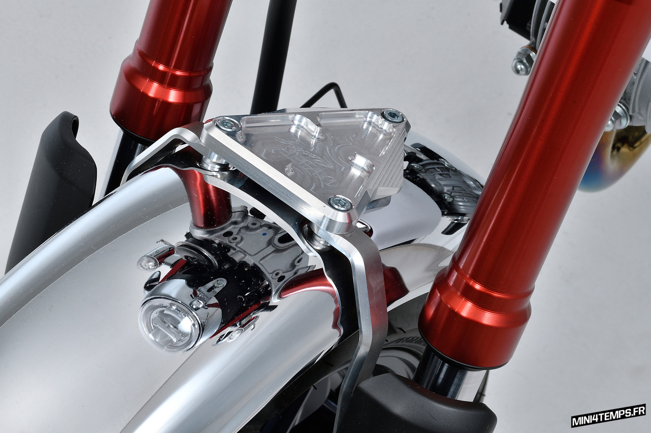 Support gb avant OVER Racing pour Honda Monkey 125 - mini4temps.fr