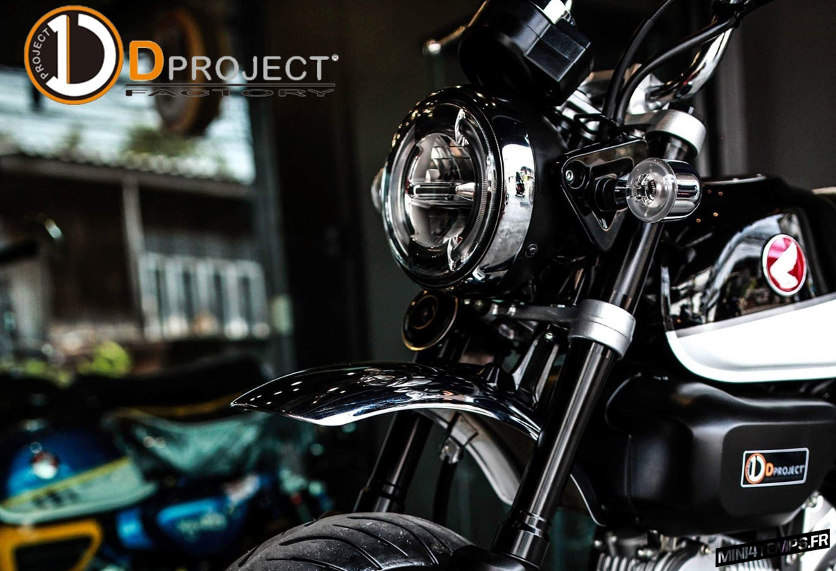 Le Honda Monkey 125 de D Project Factory - mini4temps.fr