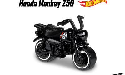 Honda Monkey Z50 2019 noir chez Hotwheels - mini4temps.fr