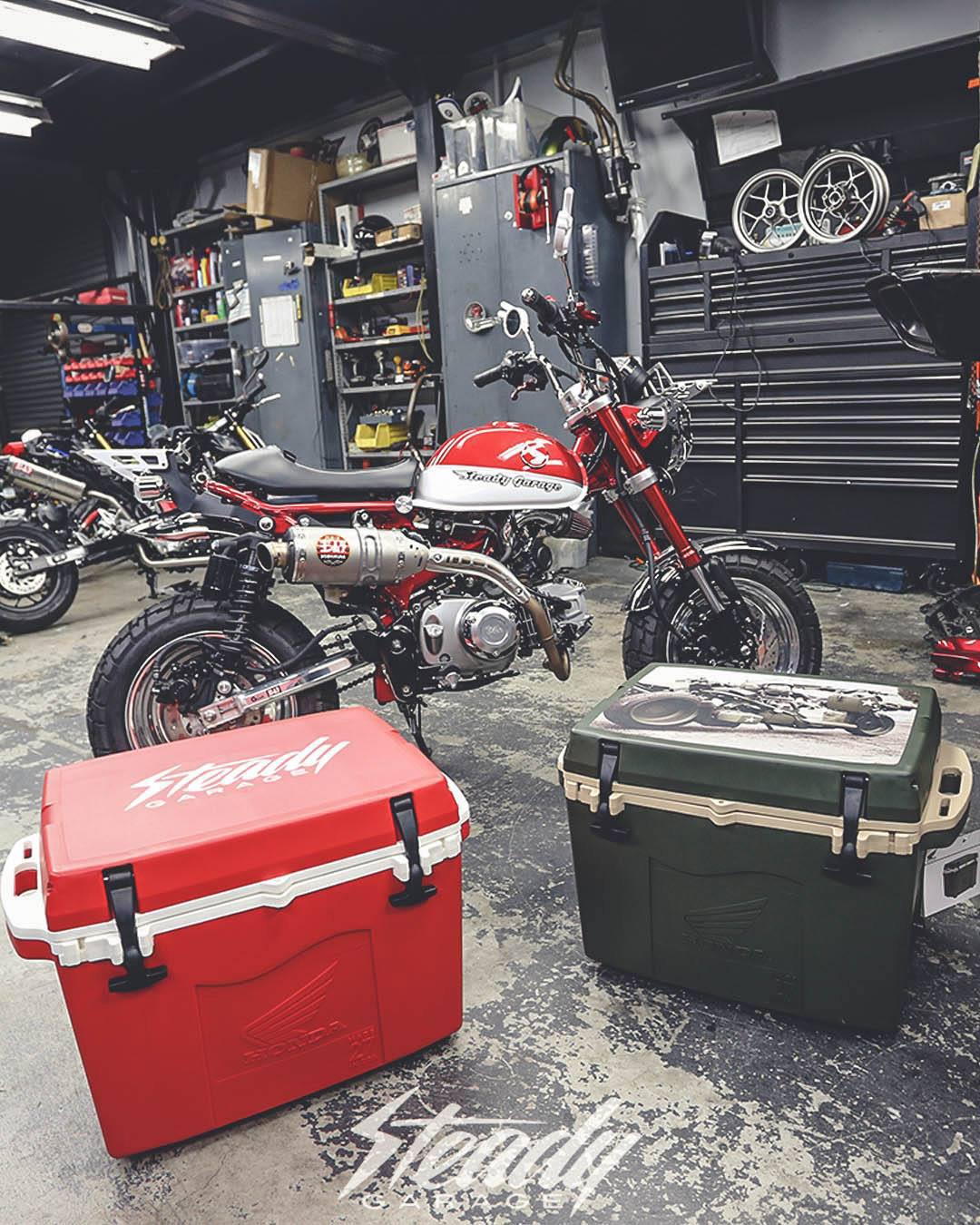 Le Honda Monkey 125 rouge de Steady Garage - mini4temps.fr