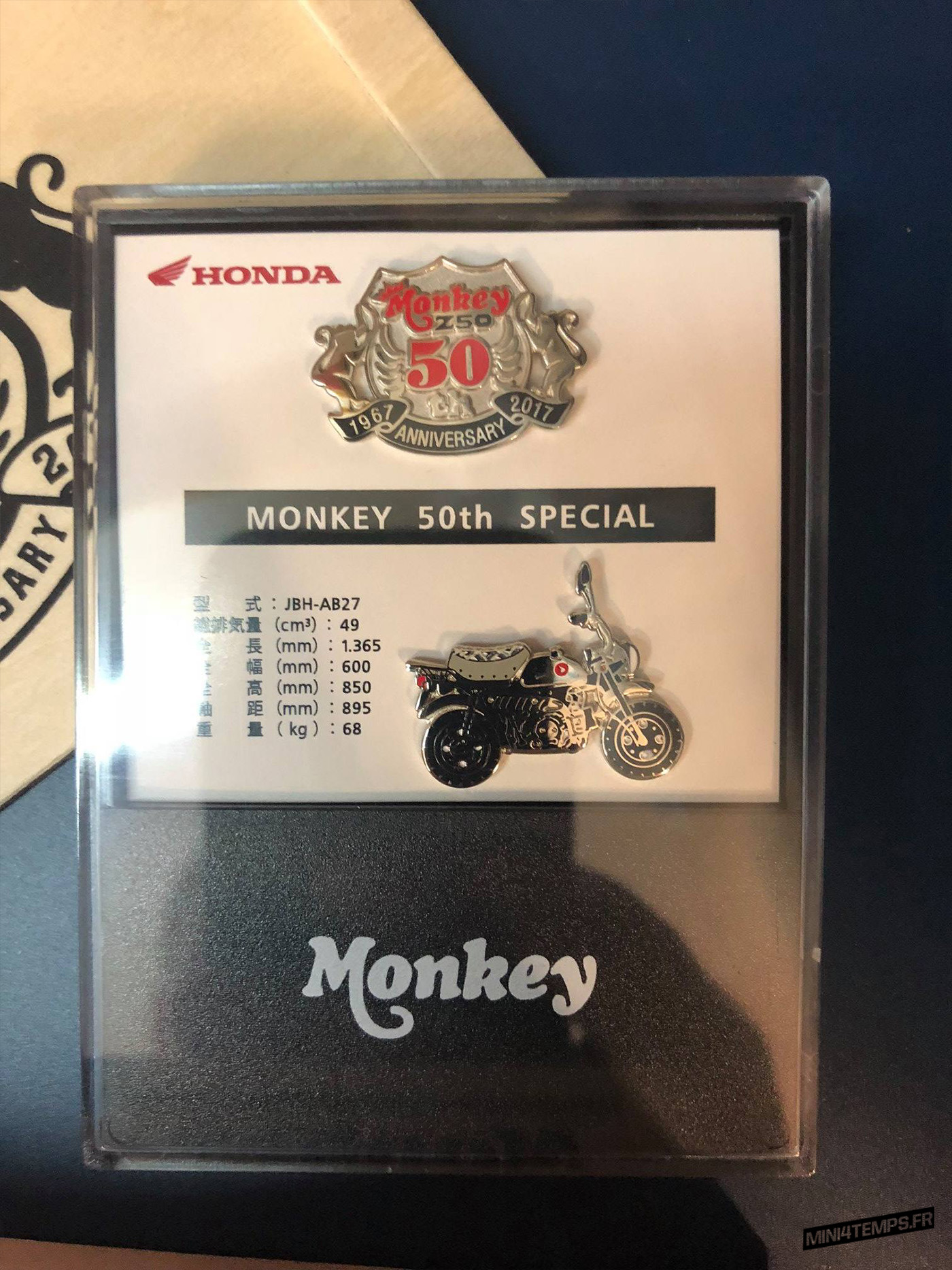 Des goodies Honda Monkey 50th Anniversary - mini4temps.fr