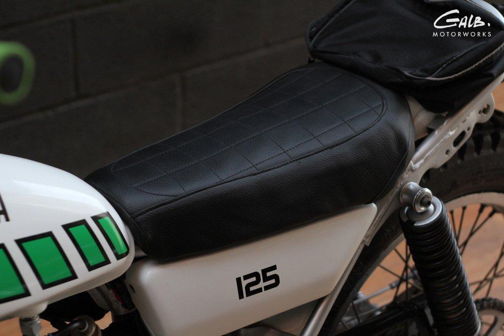 Yamaha 125TY 1K6 de 77 à vendre chez Galb Motorworks - mini4temps.fr