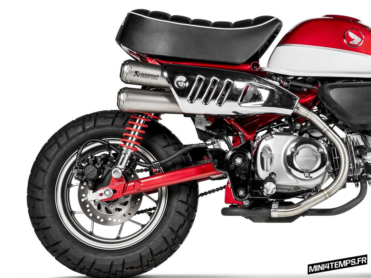 Un silencieux Akrapovic Inox pour le Honda Monkey 125 - mini4temps.fr