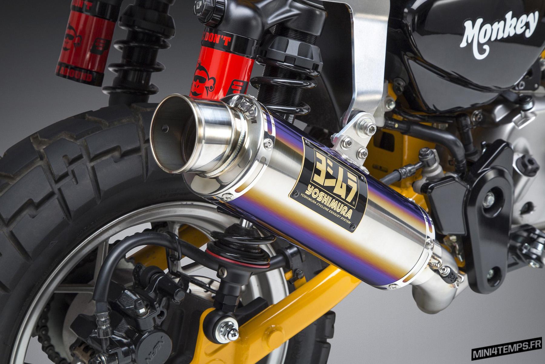 Un échappement Yoshimura GP Magnum pour le Honda Monkey 125 - mini4temps.fr