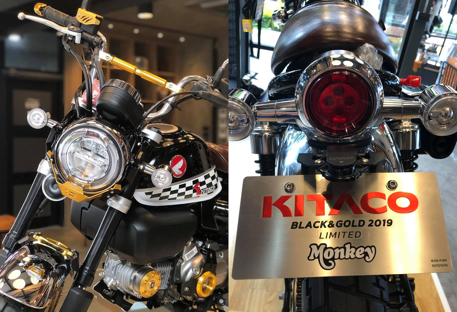 "Le Honda Monkey ""Kitaco Limited Edition Black & Gold"" du CUB House Phetchaburi - mini4temps.fr"