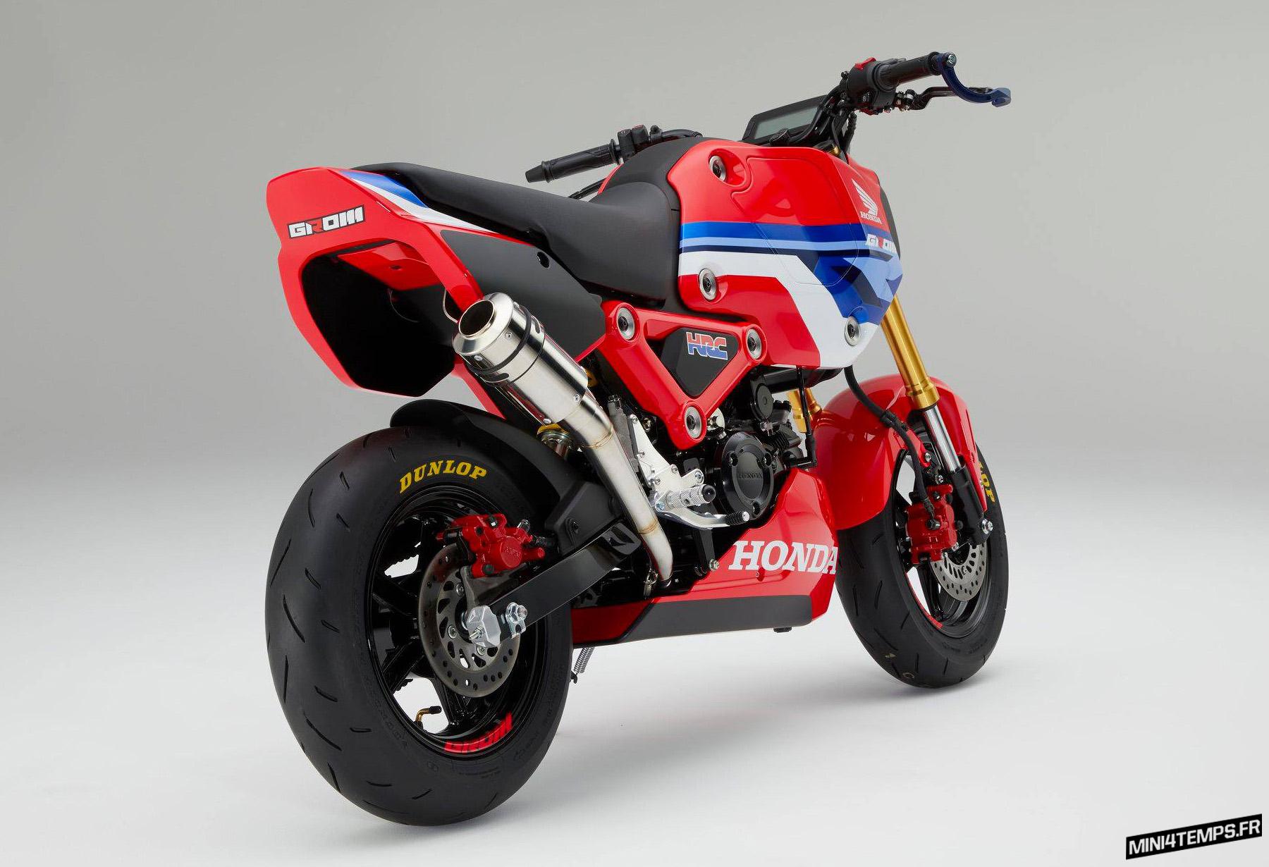 Un Honda MSX 125 customisé par le HRC / Grom 125 2021 - mini4temps.fr
