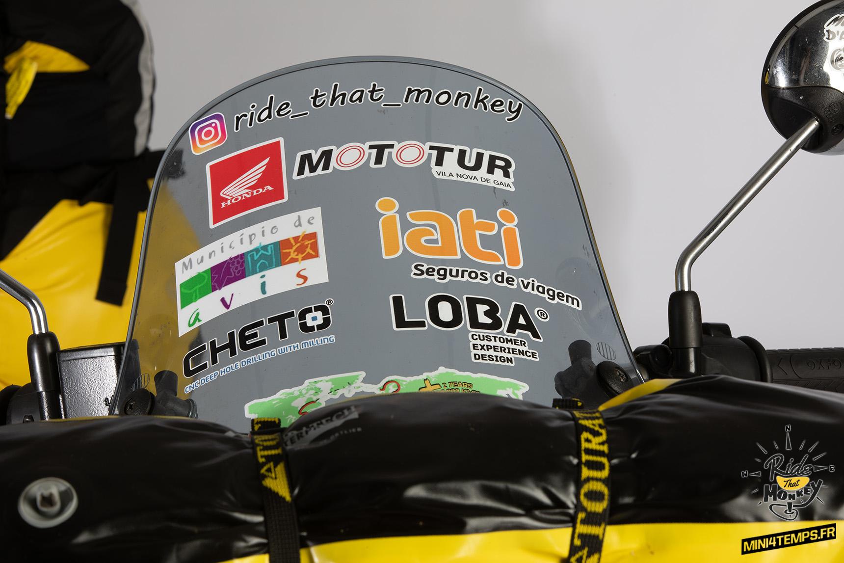 Un tour du monde en Honda Monkey 125 avec André Sousa - mini4temps.fr