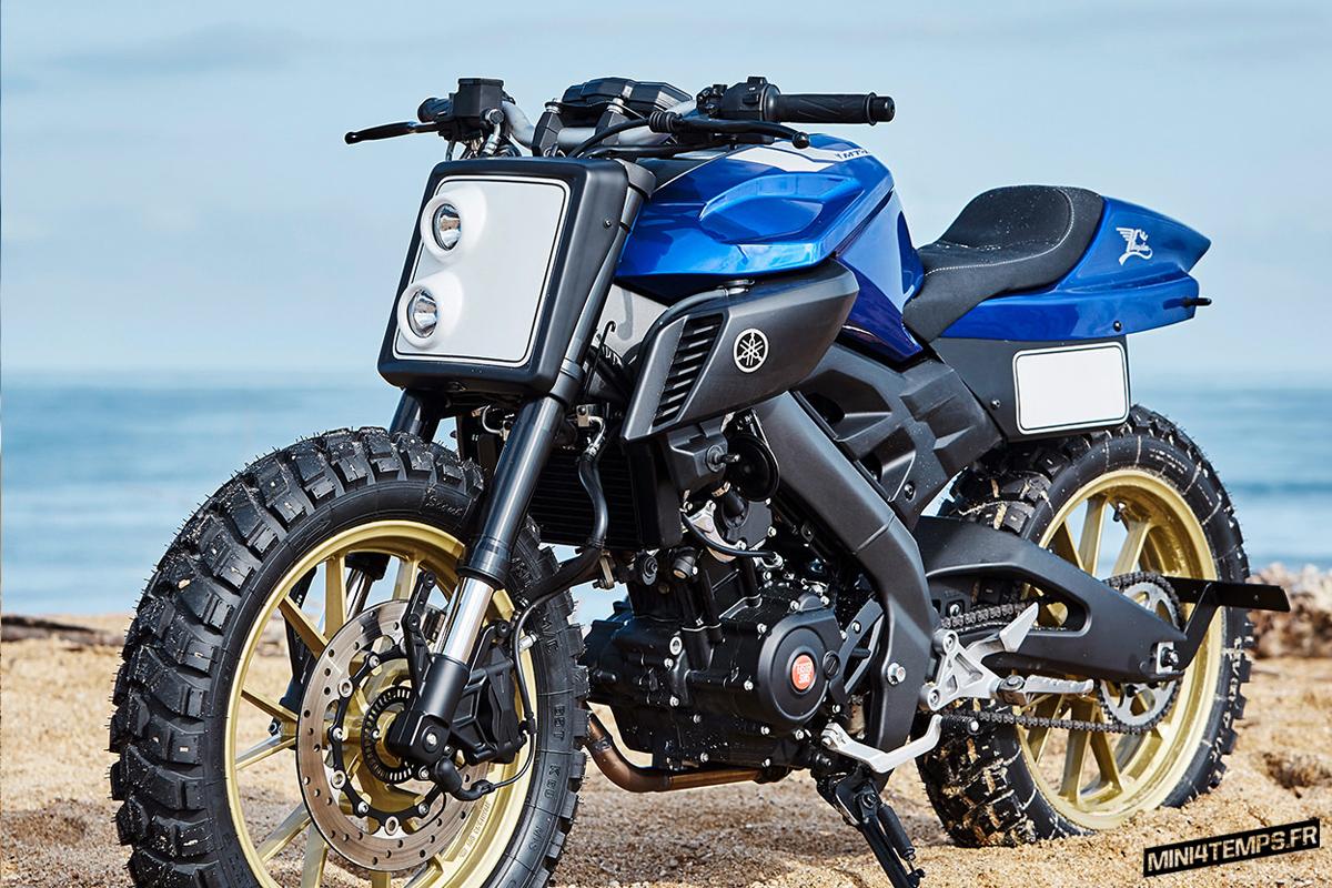 La Yamaha MT-125 tracker de Kingston Custom - mini4temps.fr