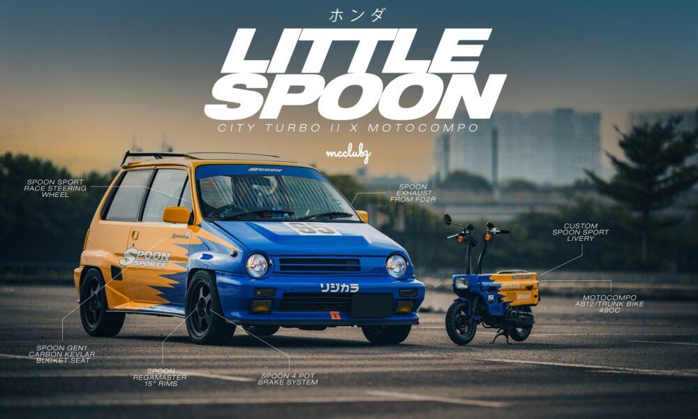 Honda City Turbo II 1984 avec Honda Motocompo - mini4temps.fr
