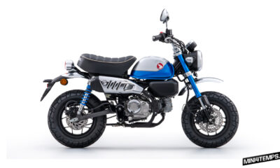 Le Honda Monkey 125 bleu - Honda Monkey 2022 - Mini4temps.fr
