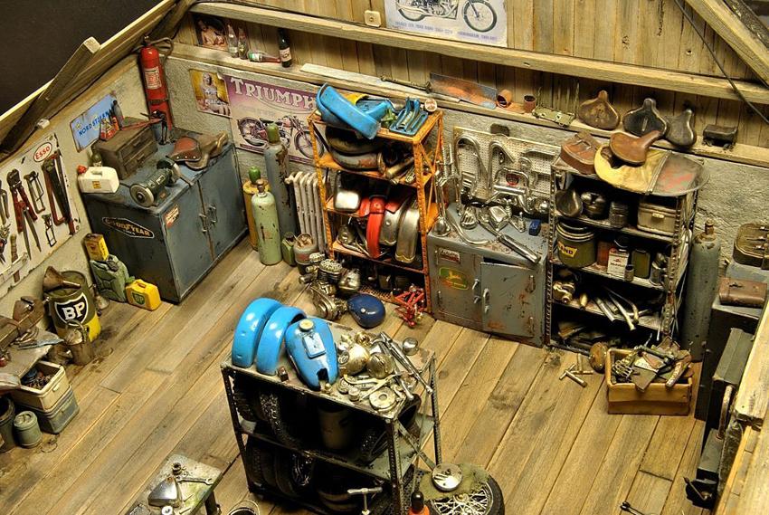 Mario Rapinett - World Miniatures - Garage et atelier moto miniature - mini4temps.fr