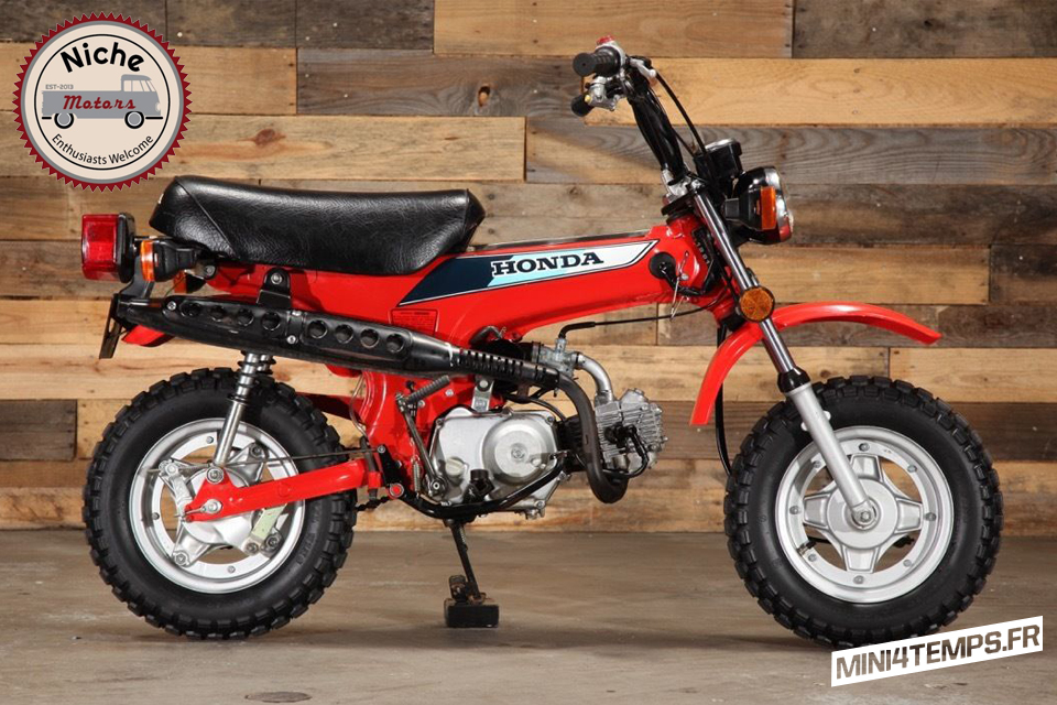 Le Honda Dax CT70 Mini Trail de Niche Motors - mini4temps.fr