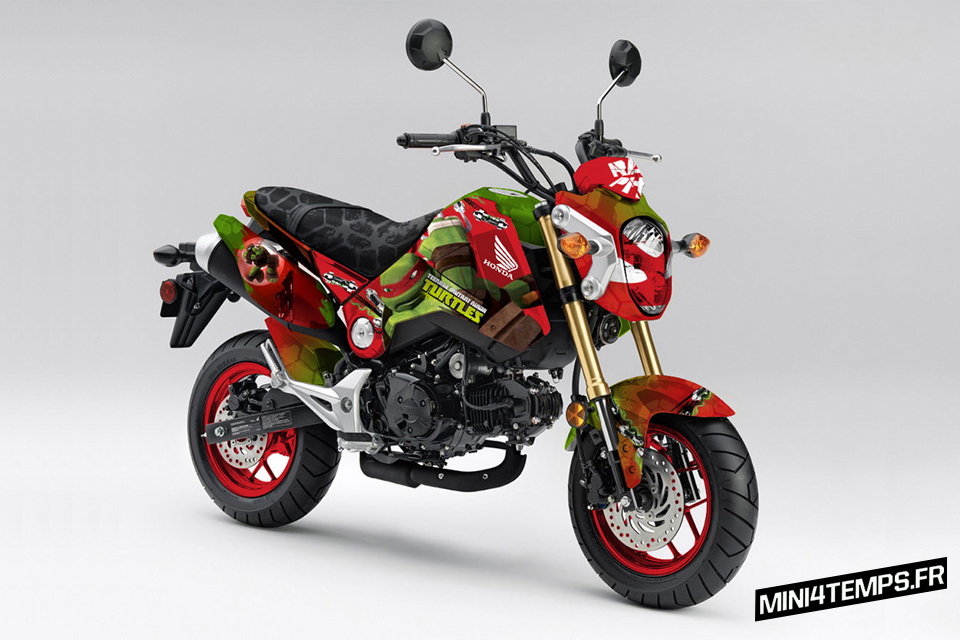 "Honda MSX 125 ""Teenage Mutant Ninja"" - mini4temps.fr"