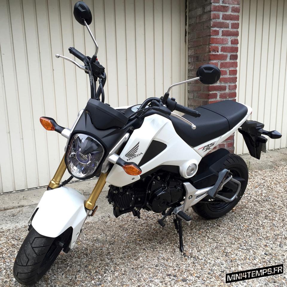 Honda MSX 125 White Pearl Akrapovic - mini4temps.fr