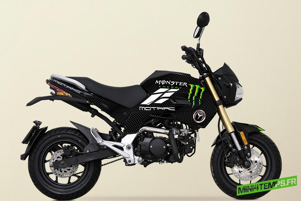 Motrac M-OX 50cc Monster Energy et Alpinestars - mini4temps.fr