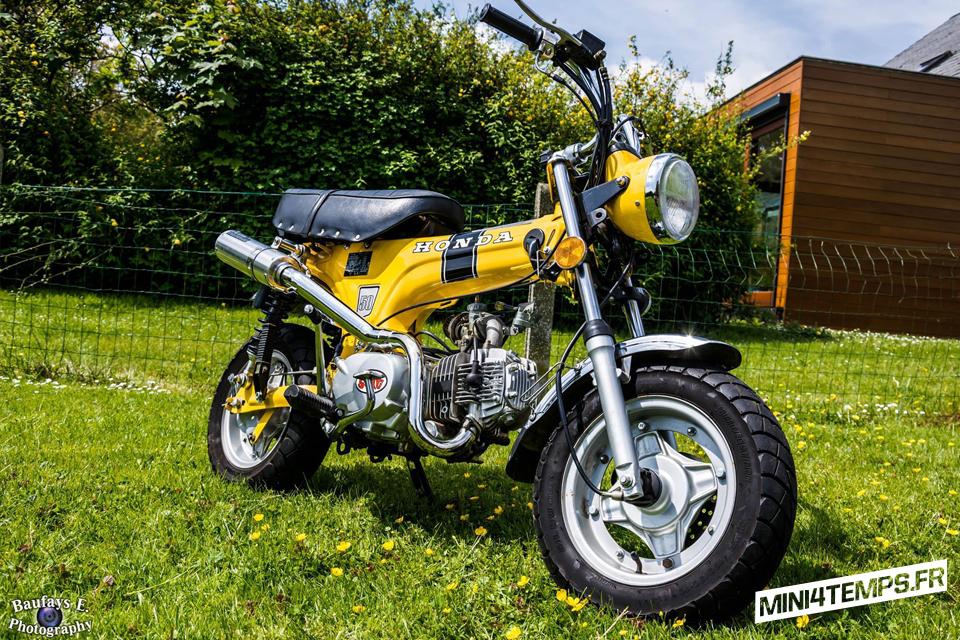 Skyteam Dax Jaune avec Moteur YX 140 et pot Kepspeed - mini4temps.fr