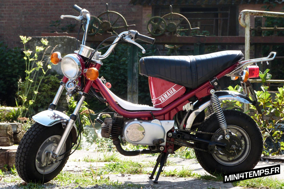 Yamaha Chappy 1F1 de 1979, rouge lucifer - mini4temps.fr