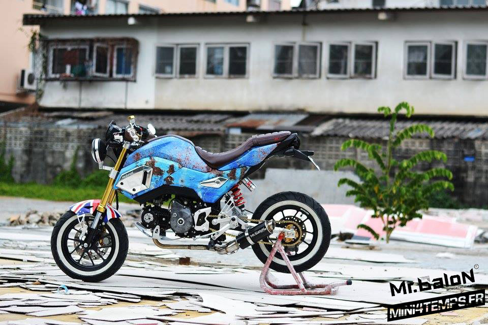 Honda MSX SF125 Café Flush Style by Mr. Balon - mini4temps.fr