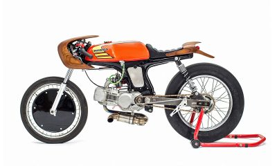 "La Honda SS50Z ""La Chute"" by George Woodman - mini4temps.fr"