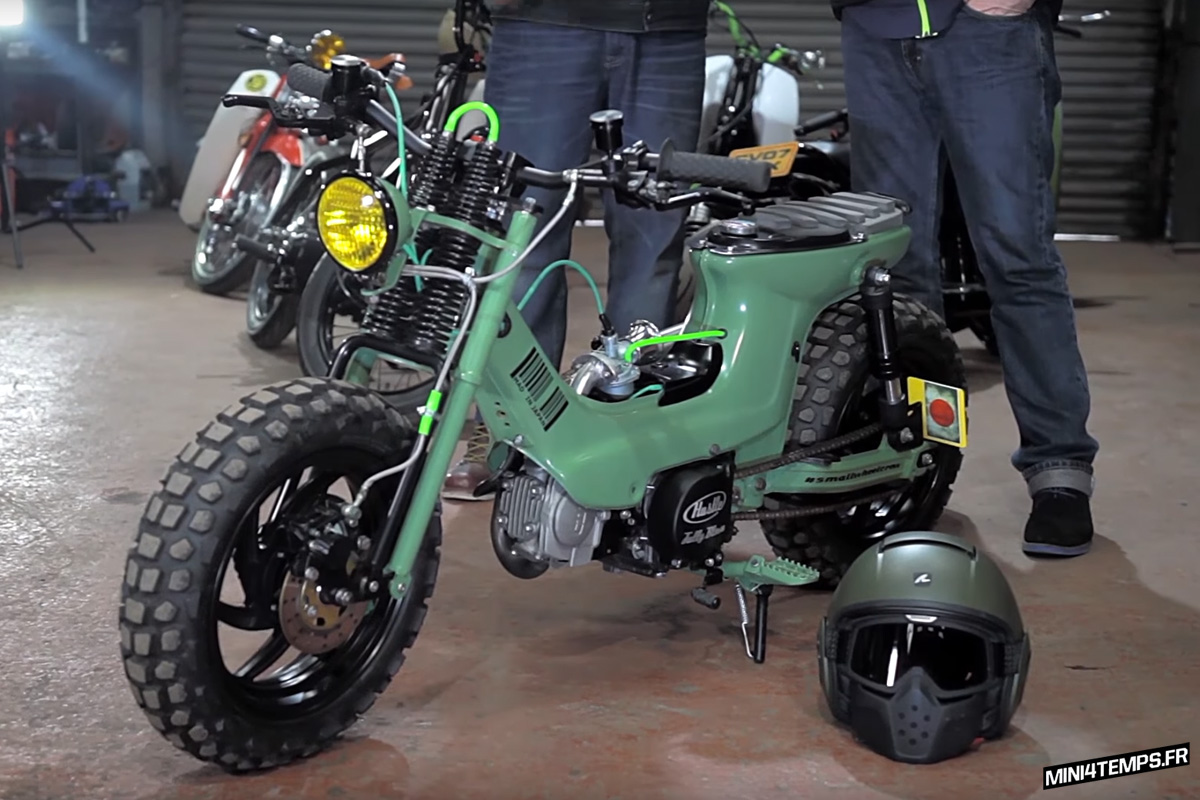 Honda Chaly CF70 The Green Machine by On Yer Bike - mini4temps.fr