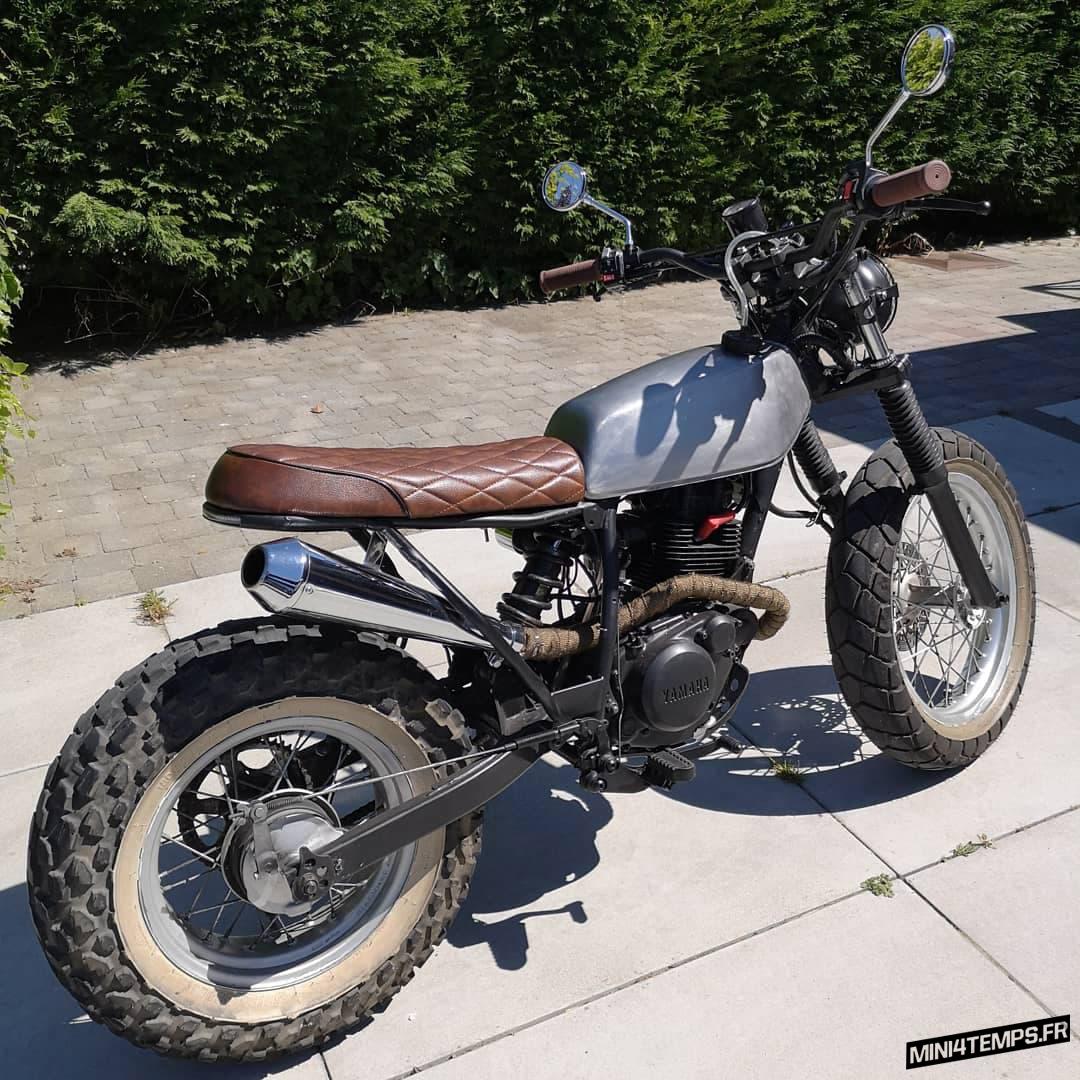 Le Yamaha TW125 Scrambler de Michel - mini4temps.fr