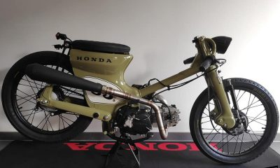 Le Honda C70 custom de LN - mini4temps.fr
