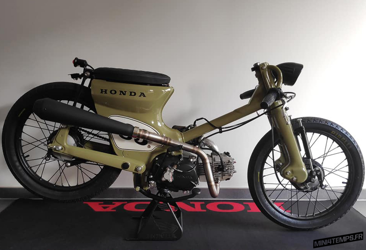 Le Honda C70 custom de LN - mini4temps.fr