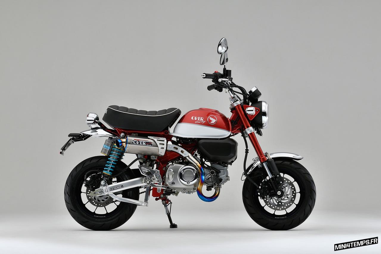 Echappement OVER Racing TT Formula pour Honda Monkey 125 - mini4temps.fr