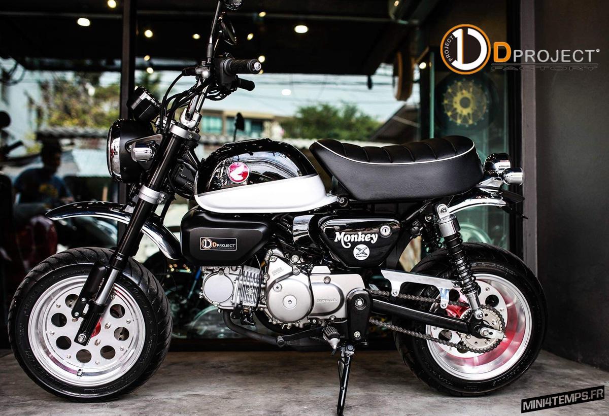 Le Honda Monkey 125 de D Project Factory - mini4temps.fr