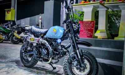 Le Honda Monkey 125 bleu crème du Cub House Chonburi - mini4temps.fr