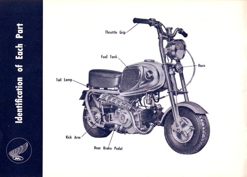 Schéma électrique du Honda Monkey CZ100 - mini4temps.fr