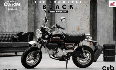 Honda Monkey The Immortal Black Edition by Cub House - mini4temps.fr